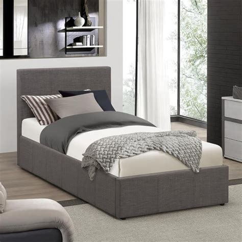 Grey Fabric Ottoman Bed Discounted Birlea Beds Befot3gryv2 Berlin 3ft Single Grey Fabric Ottoman Storage Bed