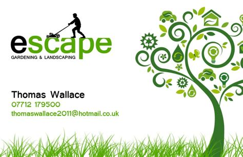 gardening business cards templates kin escape gardening business card design