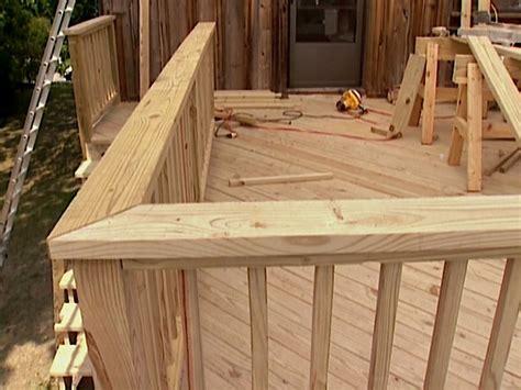 build custom deck railings  tos diy