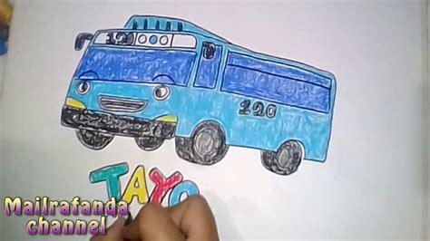 Tayo Kecil how to draw tayo the cara menggambar bis