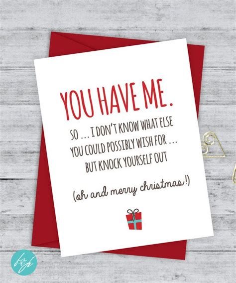 boyfriend card funny christmas card christmas card xmas card quirky snarky greeting card