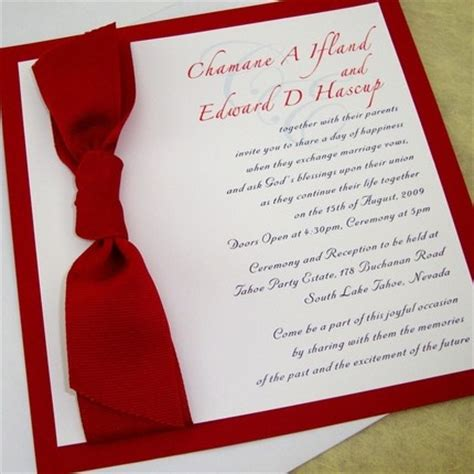 wedding invitation design red red wedding invitations weddings by the color