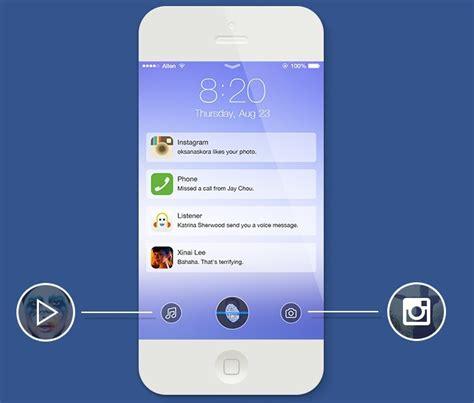 iphone layout lock free iphone 6 with ios 7 lock screen psd template titanui