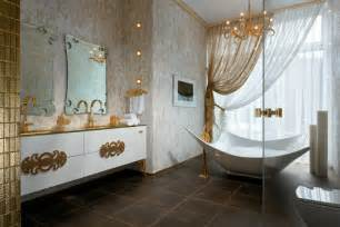 Bathroom Deco Ideas by Gold White Bathroom Decor Interior Design Ideas