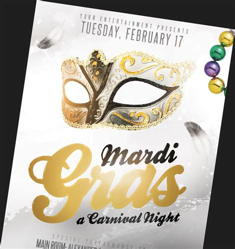 Mardi Gras Flyer Template mardi gras flyer templates for photoshop flyerheroes