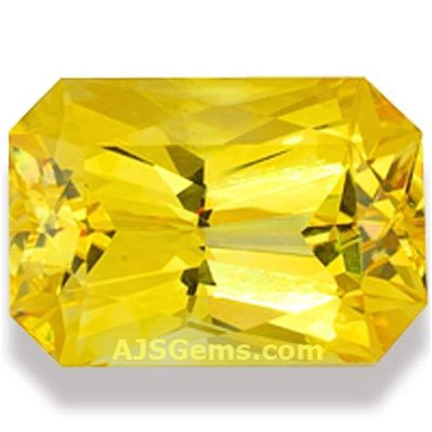 Lemon Sapphire Sertifikat yellow sapphire gemstone information at ajs gems