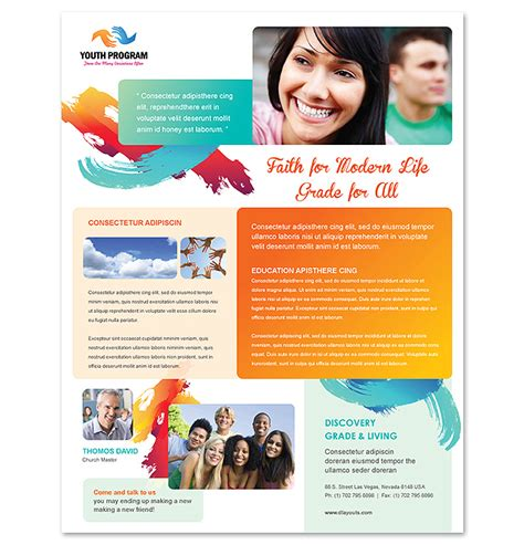 Church Youth Ministry Flyer Template Youth Flyer Templates