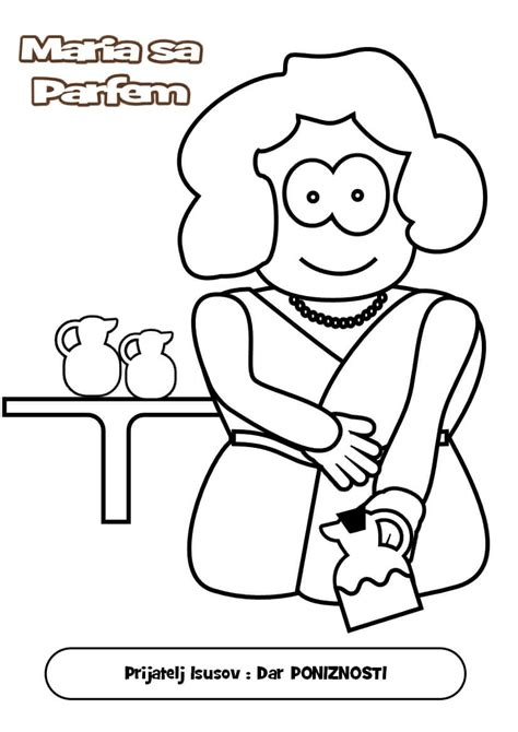 Free Bible Mary And Martha Coloring Pages And Martha Coloring Page