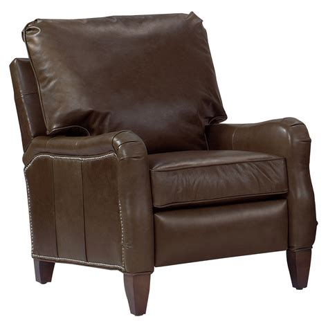 traditional pillow back arm leather recliner