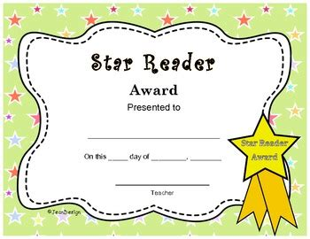 free printable star reader certificates cute star reader award end of the year certificate pre k