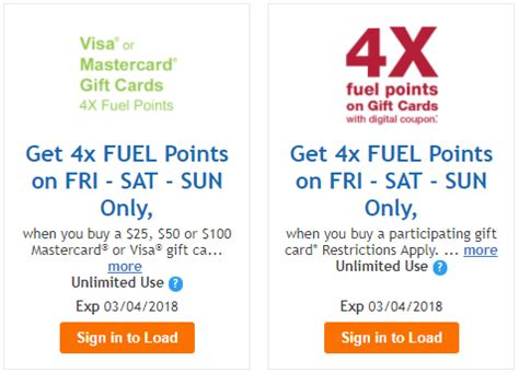 Kroger Gift Card Offer - now live two gift cards deals at kroger this weekend get 4x fuel points miles to