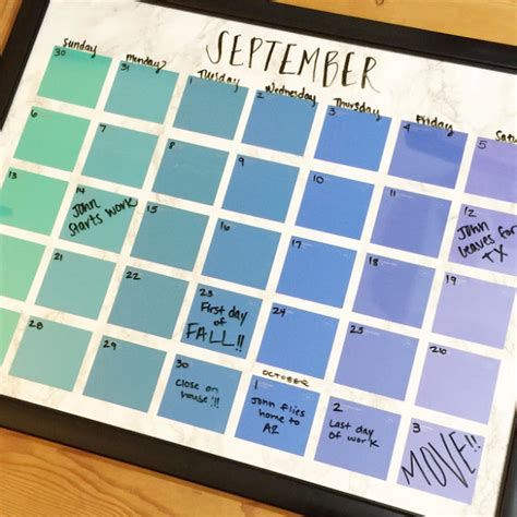 Diy Calendar 31 Creative Diy Paint Chip Projects Diy