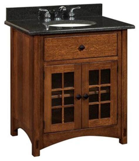 arts and crafts bathroom vanity springhill bathroom vanity oak natural glass door