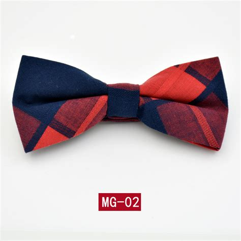 high quality cotton bow tie adjustable length formal