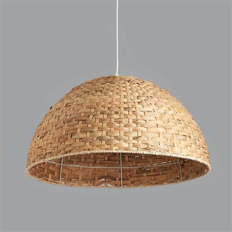dome pendant light large seagrass dome pendant light