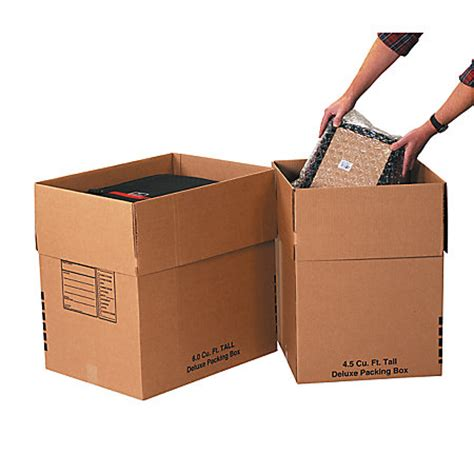 office depot brand deluxe moving boxes combination pack 2