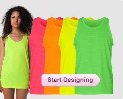 Custom Neon Shirts, Custom Neon Tank Tops, Personalized