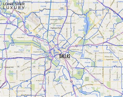 printable zip code map dallas tx north texas zip code map pictures to pin on pinterest