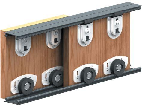 Sliding Cabinet Door Track Hardware by Ares Sliding Wardrobe Door Track Kit For Diy Bottom Rolled