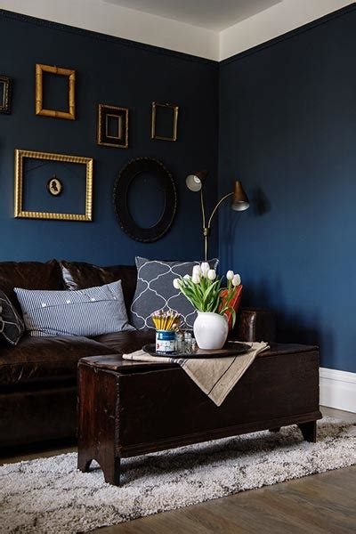 blue walls brown furniture 75 enchanting brown living rooms shutterfly