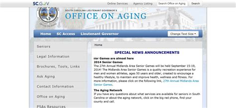 Office On Aging by South Carolina Office On Aging Customer Servant Consultancy