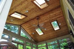 Outdoor Patio Heat Lamps Custom Screened Porch Traditional Porch Dc Metro