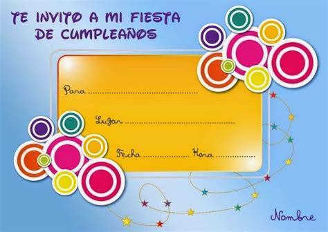 imagenes de invitaciones de cumpleaños bonitas tarjetas gratis para imprimir de cumplea 241 os frases de