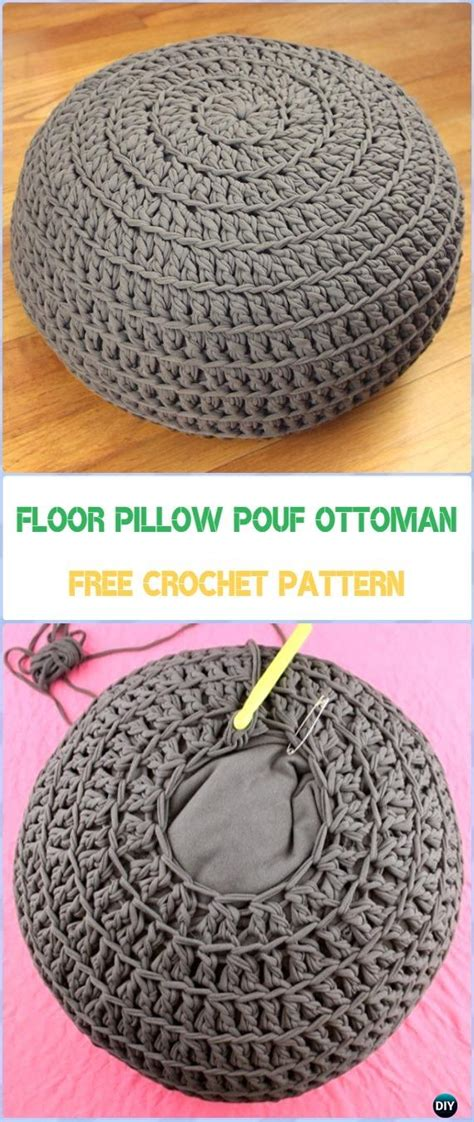 Pouf Ottoman Pattern by Crochet Poufs Ottoman Free Patterns Diy Tutorials