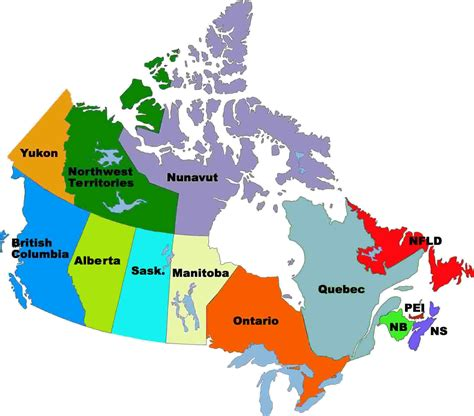 canadian map of provinces and territories map of canada provinces and territories