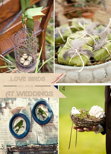 love bird wedding theme ideas wedding my dreams