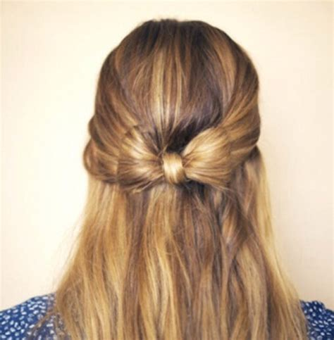 down hairstyles with bows half up hair bow