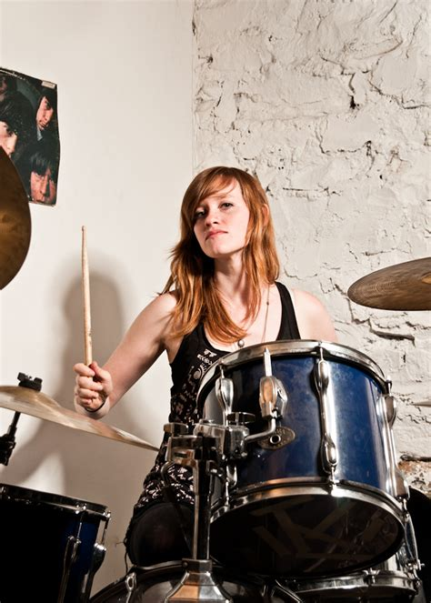 hot chick playing drums brooklyn drummer lani tom tom magazine