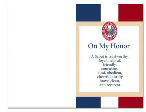 boy scout business card template eagle scout court of honor program eagle court of honor