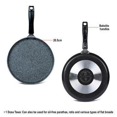 buy kitchen queen 43 pcs buy 5 pcs granite texture finish cookware online at best