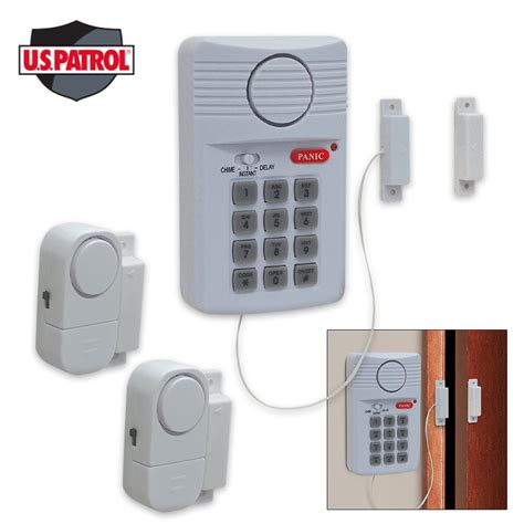 home security alarm system 3 pc set budk knives