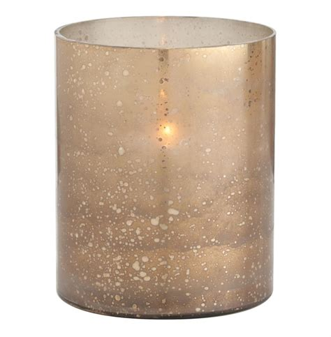 Hurricane Candle Holders Hagar Small Glass Speckled Gold Modern Hurricane Candle