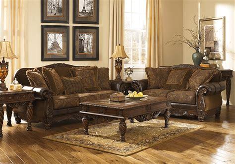 fresco durablend antique sofa fresco durablend 174 antique sofa set lexington overstock