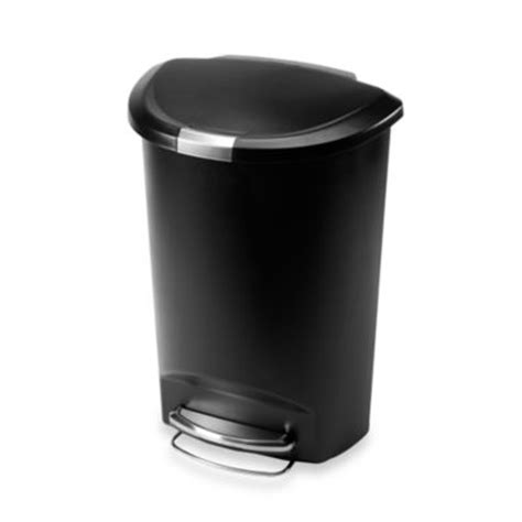 buy black kitchen trash cans from bed bath beyond