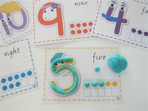 Play Doh Number Mats by Printable Number Play Dough Mats Learning 4
