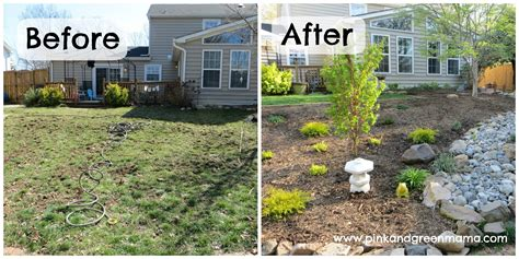 backyard before and after pictures pink and green mama diy backyard makeover on a budget