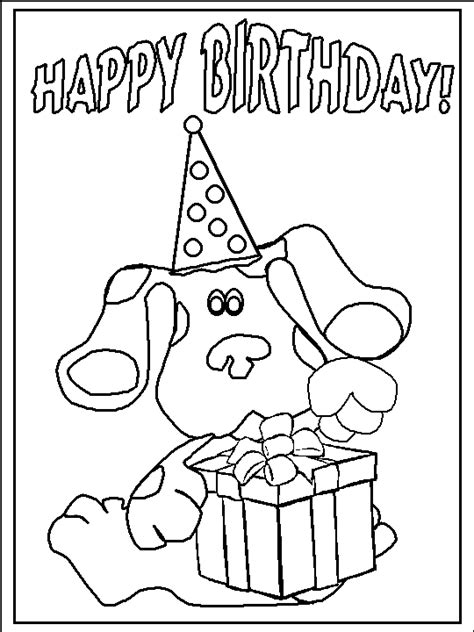 dltk birthday coloring pages bottom frame