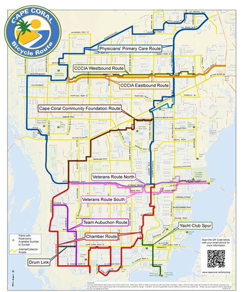 map of cape coral fl cape coral bicycling interactive maps