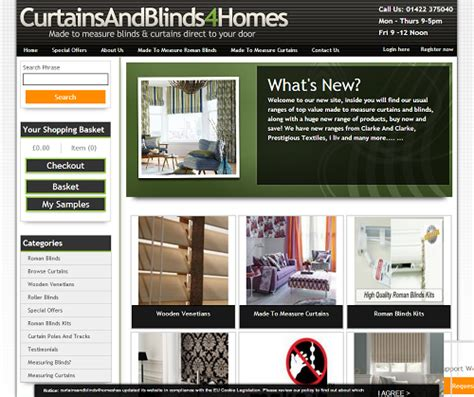 curtains and blinds 4 homes curtains and blinds 4 homes announces new improved website