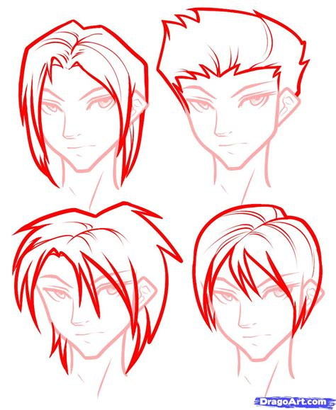 how to draw boy how to draw hair for boys step by step hair