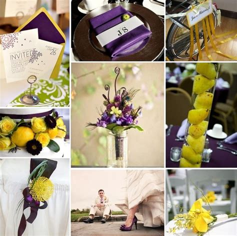 inspiration boards weddings purple and moon yellow wedding bright future and the purple