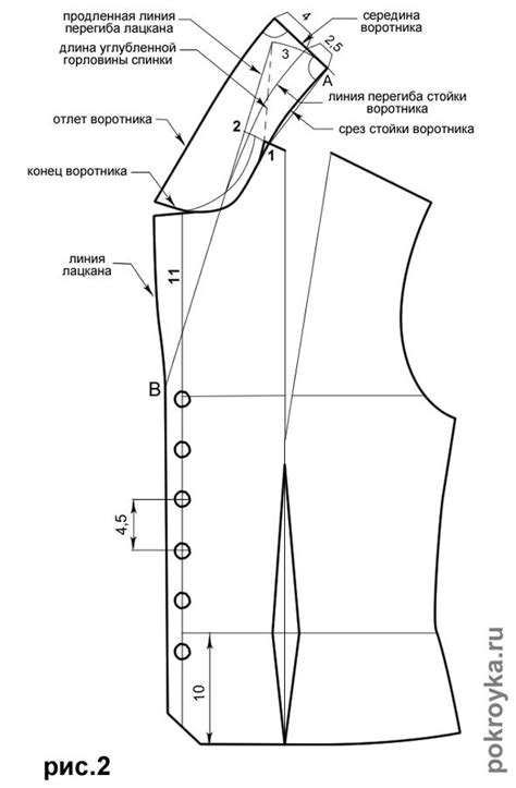 free pattern drafting instructions выкройка блузки с короткими рукавами и открыто отложным