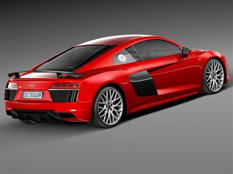 No 6 Audi R8 audi r8 v10 plus 2016 3d model cgstudio