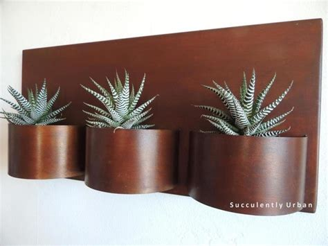 metal wall planters metal wall planter rustic san diego by succulently
