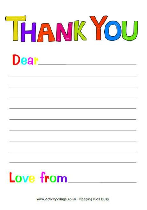printable birthday cards activity village 11 best thank you letter printables images on pinterest