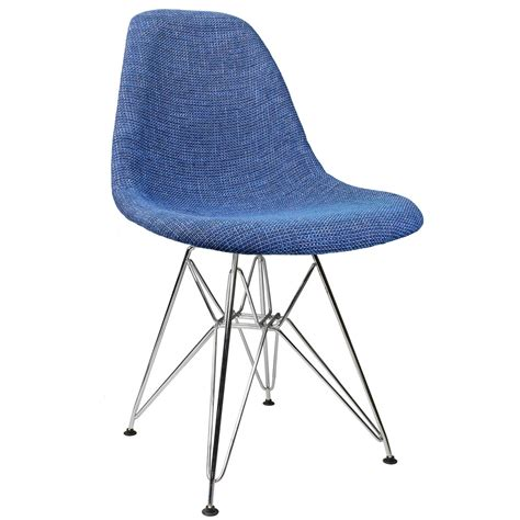 blue upholstered dining chairs blue fabric upholstered mid century eames style accent